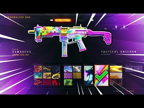 BO4 - HOW TO GET THE ULTRA RARE TACTICAL UNICORN/DAMASCUS REACTIVE CAMO ON BLACK OPS 4