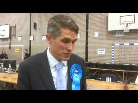 Gavin Williamson of South Staffordshire speaks of General Election win