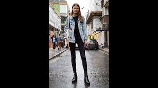 Super skinny jeans womens street style