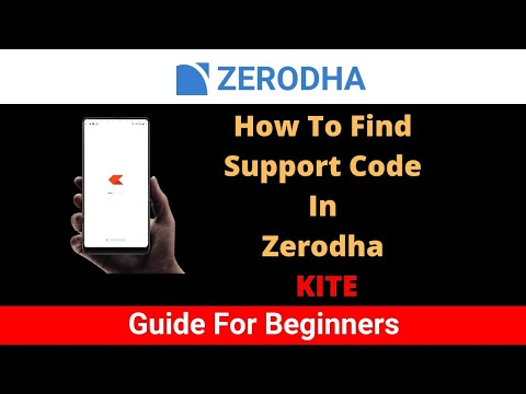 How To Find Support Code / Telephone Code In Zerodha Kite App | Find 4 Digit Support Code In Kite