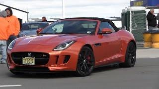 jaguar f type vs nissan gt r r35    toyota supra vs bmw m3 slipstream racing