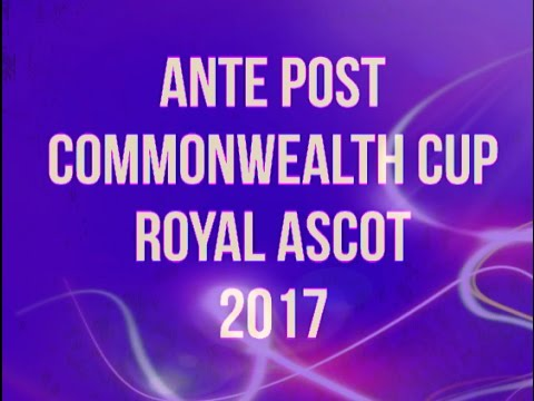 "Commonwealth Cup Royal Ascot Ante Post 2017 ""The Prof"""