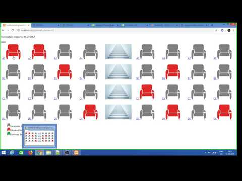 Simple Seat Booking Using Html/php