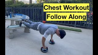 Chest Workout | Follow Along: Dumbbell Flys and Decline Push-Ups