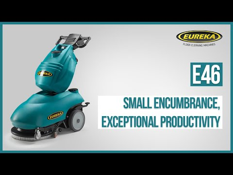 Mini Professional Scrubber-dryer Eureka E46   Compact Walk-behind Floor Cleaning Machine