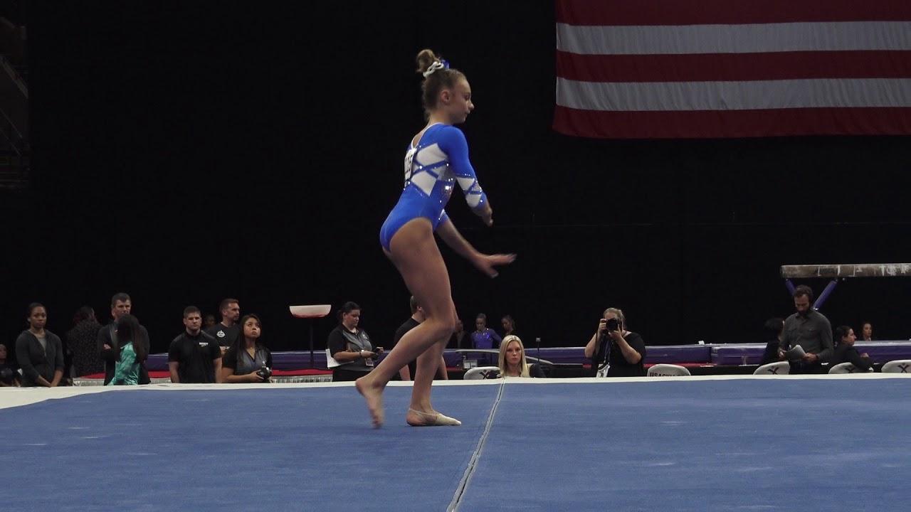 Grace McCallum – Floor Exercise – 2018 U.S. Gymnastics ...