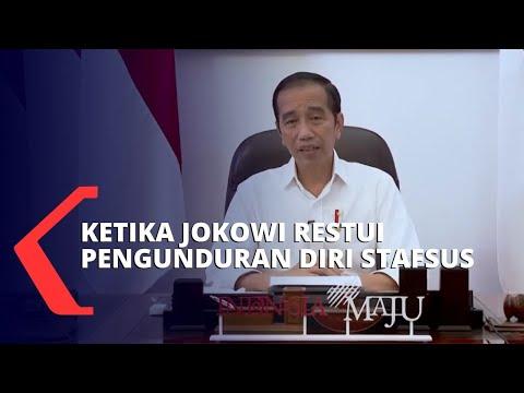 2 Stafsus Presiden Mundur, Ini Pesan Jokowi