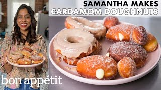 Samantha Makes Cardamom Cream & Maple-Glazed Doughnuts | From the Home Kitchen | Bon Appétit