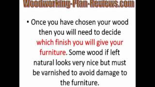 Wood Furniture Plans - The Easy Way To Make Furniture Yourself