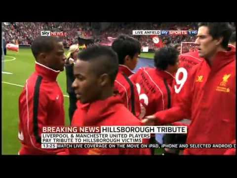 Patrice Evra shakes Luis Suarez's Hand before Liverpool vs Manchester United Premiership Match