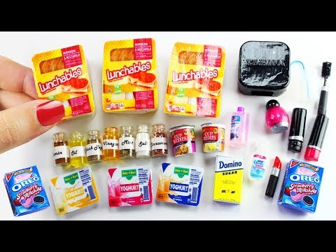 How to Make Easy REAL & Edible DIY Miniatures - 10 Easy DIY Miniature Doll Crafts - simplekidscrafts