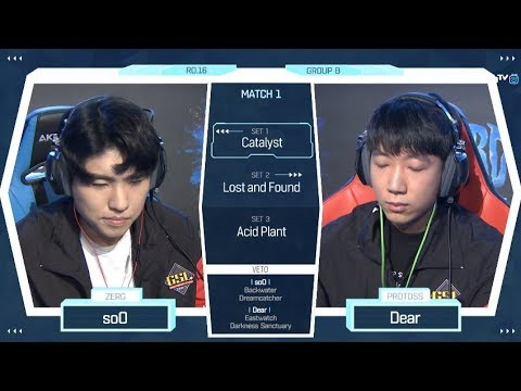 [2018 GSL Season 2] Code S Ro.16 Group B Match1 soO vs Dear