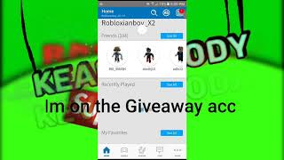 Roblox Account Giveaway! (2018)