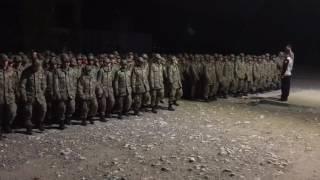 Tezkere alan askere asker uğurlaması