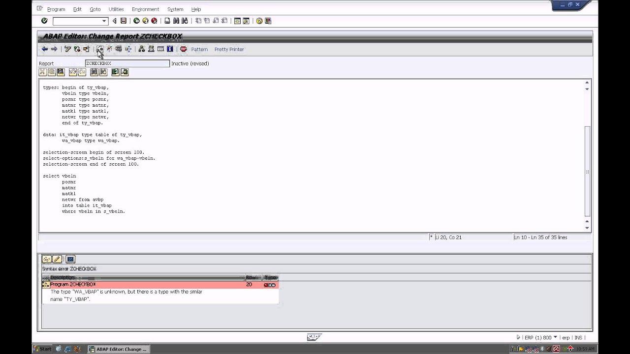 SAP- checkbox using Call Screen Report