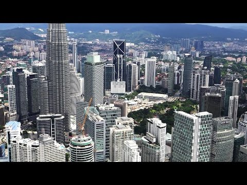 VIEW OF KUALA LUMPUR FROM THE TOP OF KL TOWER