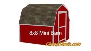 8x8 Mini Barn Shed Plans