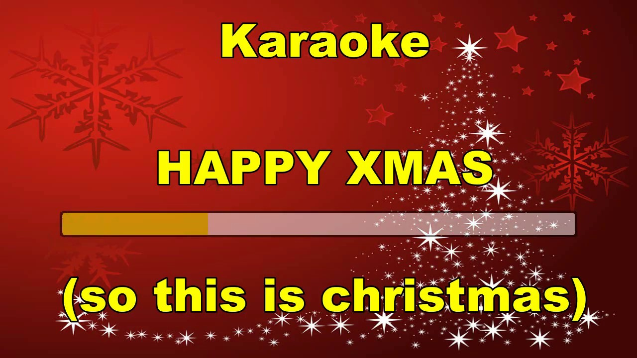 Cover Strumentale Happy Xmas So This Is Christmas J Lennon Whit Lyrics Youtube