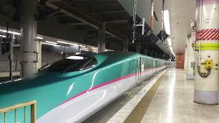 東北新幹線 はやぶさ20号 東京行き E5系と秋田新幹線 こまち20号 東京行き E6系  2018.01.13