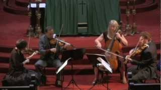 Cypress String Quartet perform Dvorak String Quartet No.13 in G major Op.106 - Mvt 3