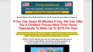 Work At Home Institute SCAM Review (Oh yeah, it IS)(http://www.InternetPayNow.Net Work At Home Institute with Kim Swartz and Bobbie Robinson is a total KNOCK OFF. WATCH THIS about Work At Home Institute ..., 2014-07-15T19:01:10.000Z)