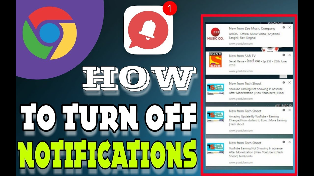 how to disable chrome notifications on windows 7,8,10 (2018)