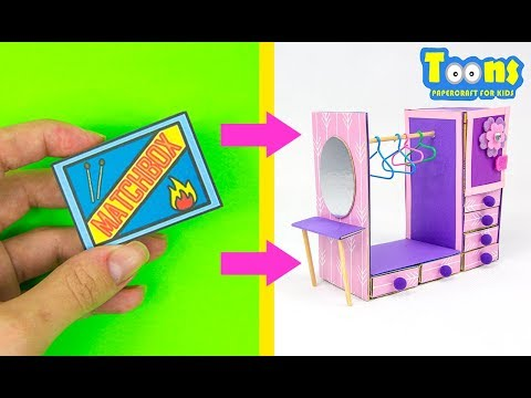 MATCHBOX CRAFTS MINIATURE FURNITURE FOR DOLLS HOW TO MAKE DIY FOR KIDS
