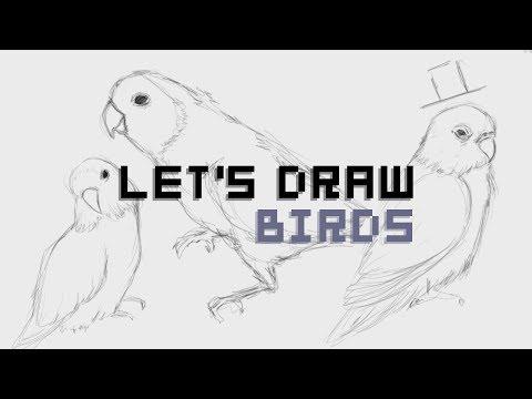 ✏ LET'S DRAW | Lovebirds!