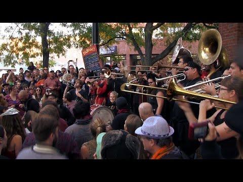 HONK! 2014 - What Cheer? Brigade - Oct 12 - Eliot Triangle, Harvard Square, Cambridge, MA.