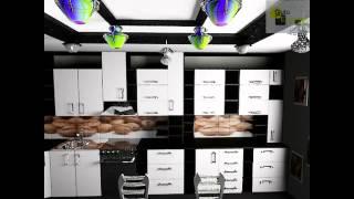видео Глянцевые Фасады в Интерьере Кухни Черные, Красные и Бежевые, Классический и Современный Дизайн с Фотопечатью