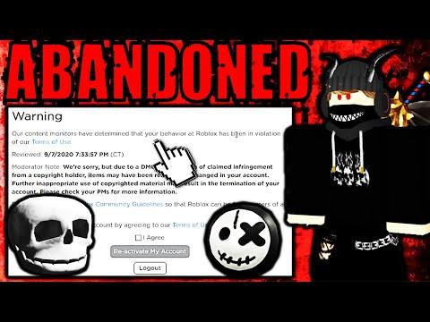 I had to abandon my original roblox account...