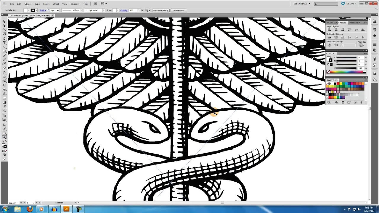 Drawing Lines In Illustrator : Illustrator tutorial creating an illustration from hand