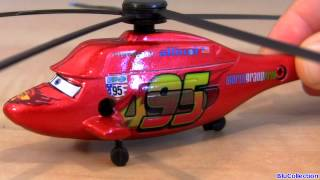 Metallic Chopper Team Lightning McQueen Helicopter CARS 2 Pixar Disney Store Ransburg Toys review