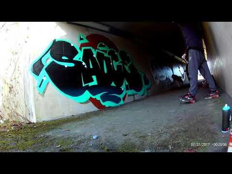 Graffiti - Sauce timelapse in hidden tunnel