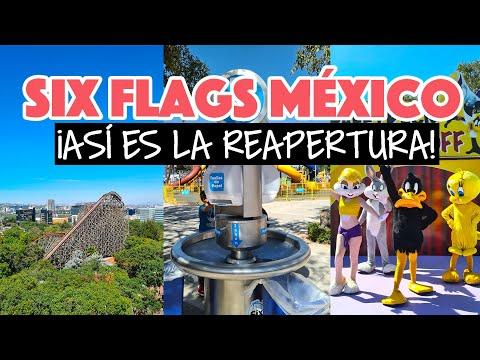 Reabrió Six Flags y así funciona en nueva normalidad