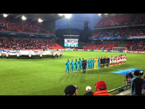 Standard Lüttich Liege - Zenit Saint Petersburg Champions League Hymn from Stand