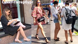 Петербург в трусах КРАСОТКИ наводнили Невский Как одеваются россиянки этим летом СТРИТ СТАЙЛ 2020
