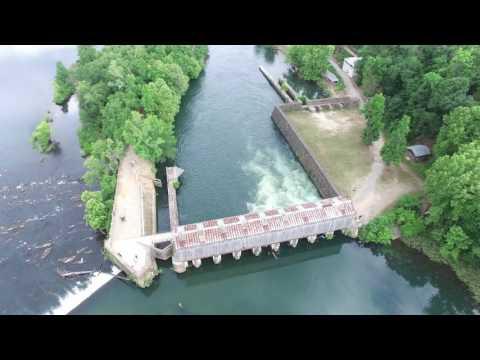 Savannah Rapids Augusta, GA 4K Drone Footage