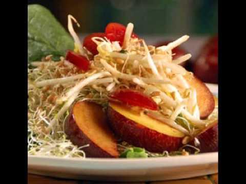 Cocina vegetariana facil ensalada de frutas y germinados for Cocina vegetariana facil y rapida