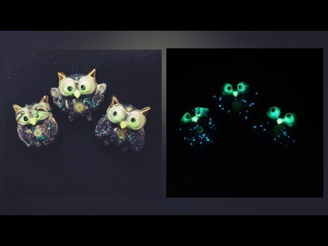 How to make Resin shining owls / Keychain / Halloween decoration