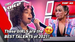The BEST GIRLS Blind Auditions of The Voice Kids 2021!   Top 10