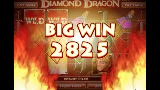 41 - BIG WIN! Café Casino - Diamond Dragon slot game