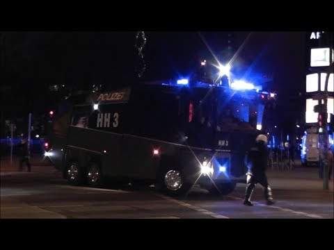 [CHAOS NACH KRAWALLEN] GROSSEINSATZ Polizei/BF/Rettung Hamburg nach Krawallen (HD)