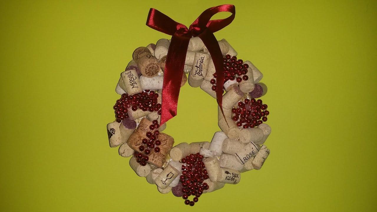 Diy Easy Christmas Wine Cork Wreath Youtube