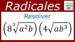 Multiplicación de radicales de diferente índice