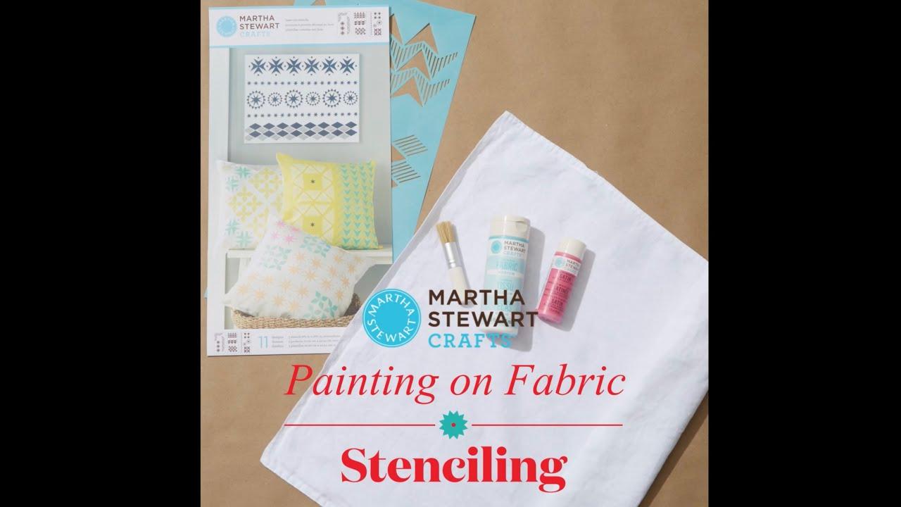 How to stencil on fabric with martha stewart crafts youtube how to stencil on fabric with martha stewart crafts spiritdancerdesigns Images