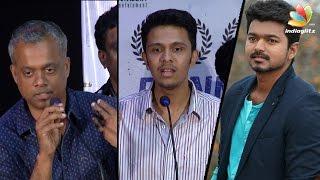 Vijay's comment on Dhuruvangal 16 : Gautham Menon, Karthick Naren Speech | 75th Day Celebration