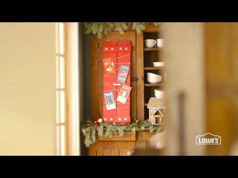 How To Display Christmas Cards - DIY Holiday Card Holder