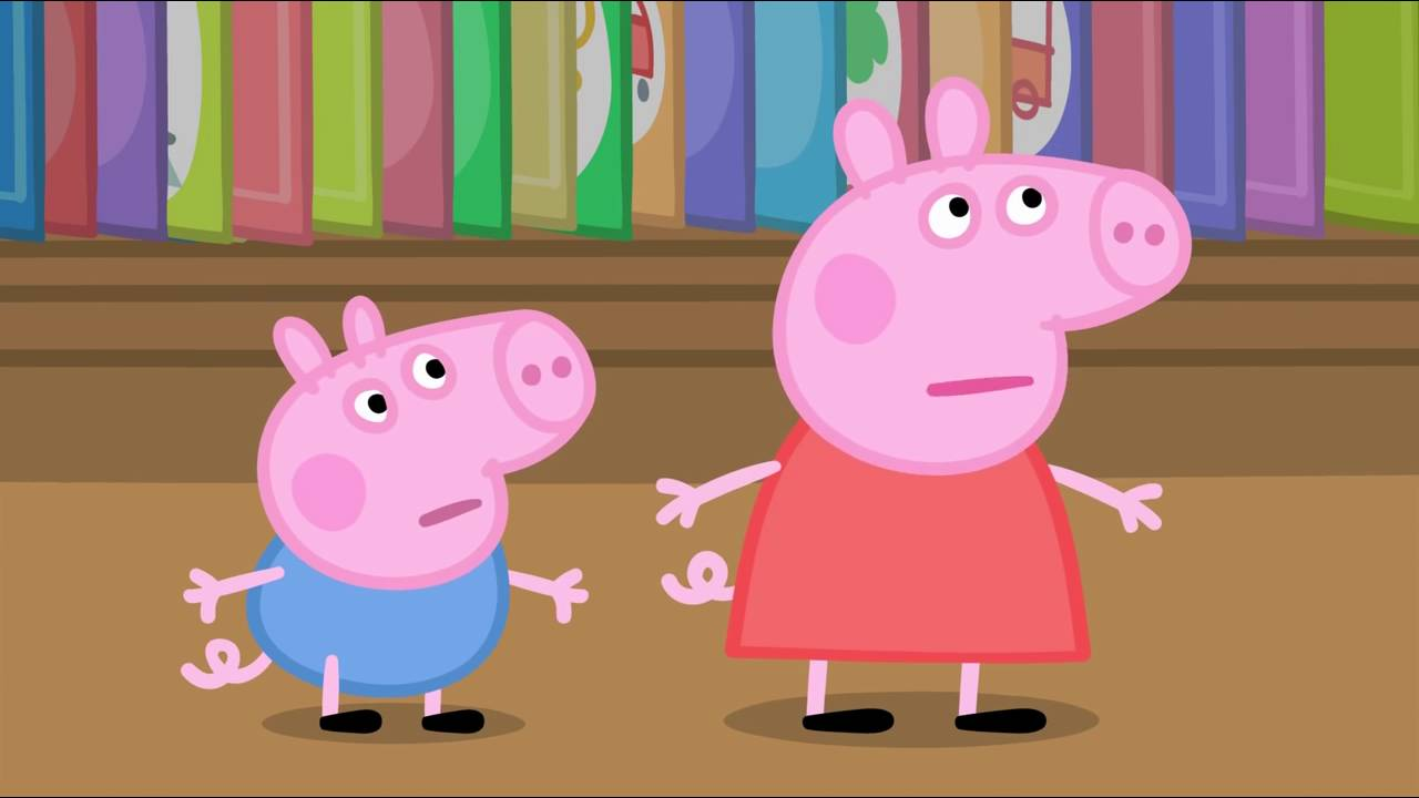 Peppa Pig - The Library (4 episode / 3 season) [HD]