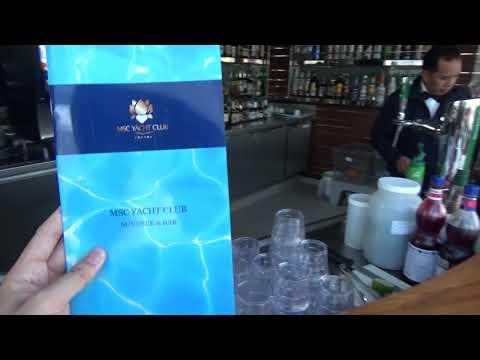 MSC Yacht Club Menu Pool Bar and Grill Pool Deck